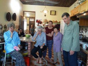 Australian guests watching the process of making Morgh-e-Torsh (Sour Chicken)